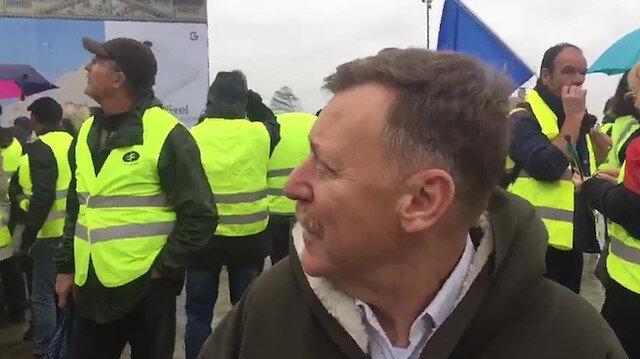 CHP'li Atıcı Fransa'daki eylemlere 'barışçıl' derken kendisi korktu
