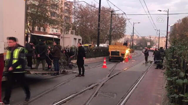 Kabataş-Bağcılar tramvay hattında arıza meydana geldi