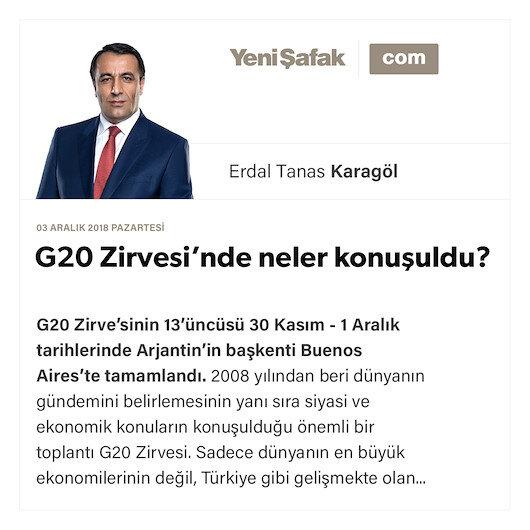 G20 Zirvesi'nde neler konuşuldu?