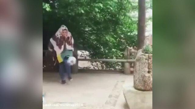 İranlı genç kızdan Neymar'ı kıskandıracak şov