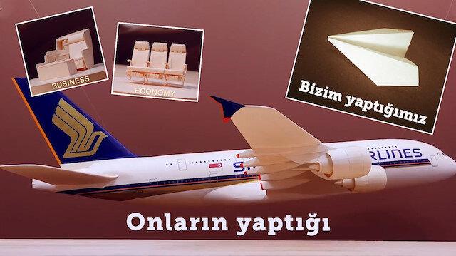Bin saat çalışmanın ürünü: İşte karşınızda kağıttan Boeing 777