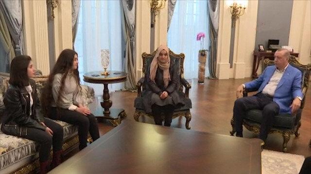Cumhurbaşkanı Erdoğan gençleri kabul etti