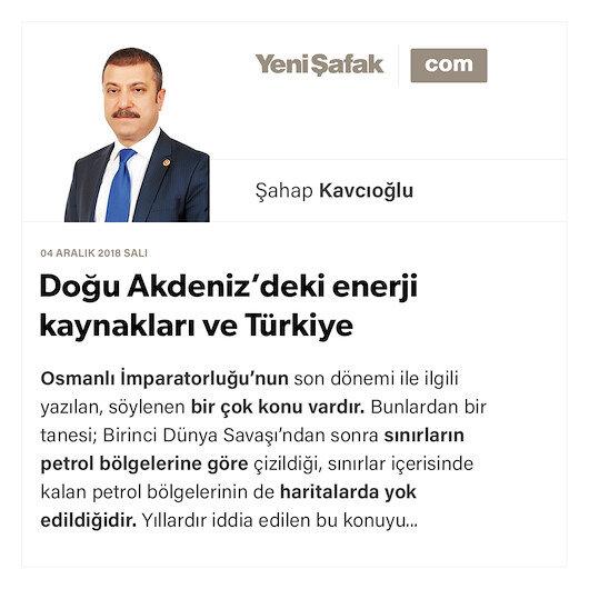 Doğu Akdeniz'deki enerji kaynakları ve Türkiye