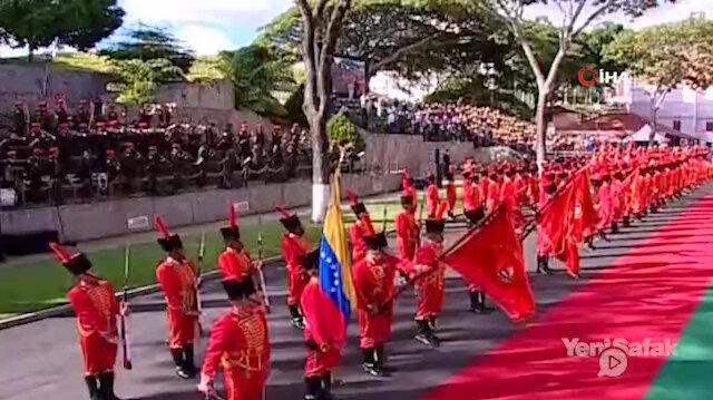 Venezuelan soldiers sing Turkish national anthem to welcome Erdoğan