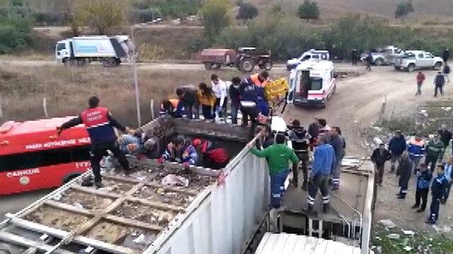 Çöp konteynerine düşen işçi zehirlenerek öldü