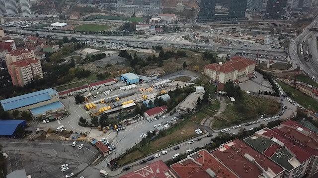 İBBnin 550 milyon TLye sattığı arazi havadan görüntülendi