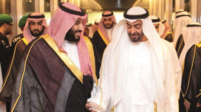 Crown princes Mohammad bin Salman and Mohammad bin Zayed