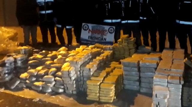 Erzincan'da 700 kilo uyuşturucu ele geçirildi