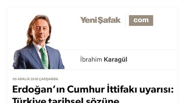 * Erdoğan'ın Cumhur İttifakı uyarısı: Türkiye tarihsel sözüne dönmüştür. * İçeriden ve dışarıdan saldıracaklar ama korktukları başlarına gelecek..