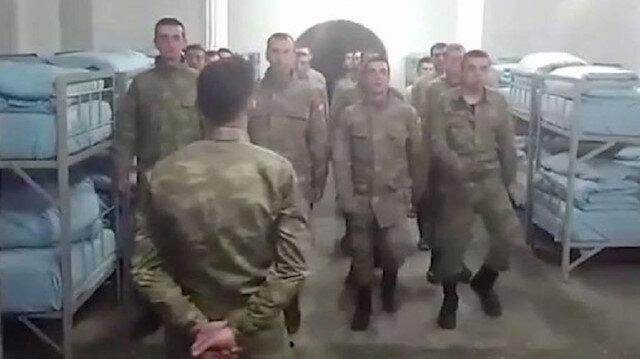 Videoda bir rütbelinin emriyle askerlerin, MHP'nin Şanlıurfa'nın Siverek ilçesi belediye başkan adayı olan Fatih Bucak'ın adını bağırdıkları görülüyor.