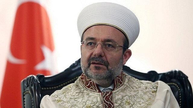 رئيس الشؤون الدينية، ورئيس مجلس الهيئة الإدارية لوقف الديانة التركي، علي أرباش