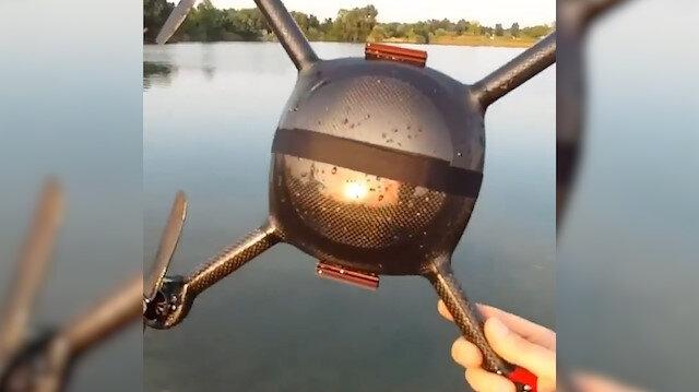 Dronea denizde taklalar attırdı