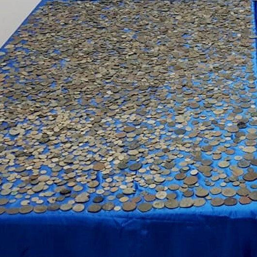 Roma ve Bizans dönemine ait 10 bin sikke ele geçirildi