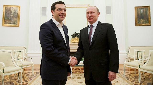 Yunanistan Başbakanı Çipras ile Rusya Devlet Başkanı Putin