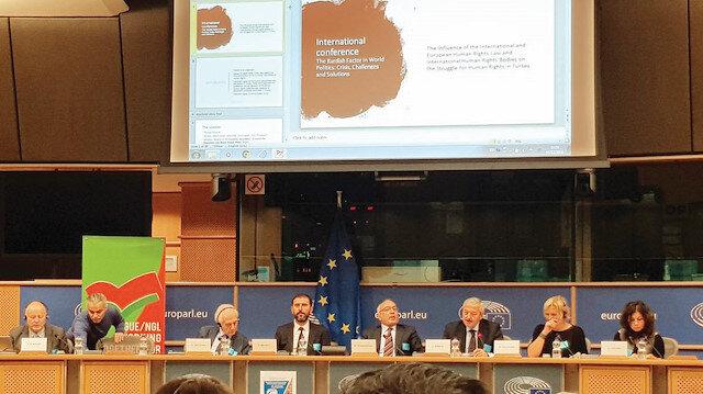 Avrupa Parlamentosu'nda düzenlenen 15. 'Kürt Konferansı' PKK şovuna dönüştü