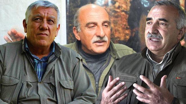 Terör örgütü PKK elebaşları, Cemil Bayık, Duran Kalkan, Murat Karayılan.
