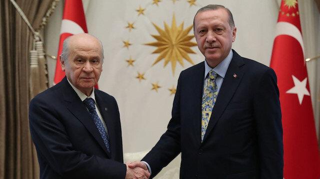 MHP Genel Başkanı Devlet Bahçeli - Cumhurbaşkanı Recep Tayyip Erdoğan