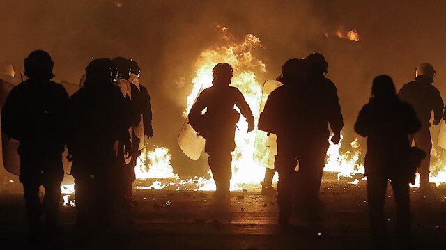 Atina'da polis ve göstericiler arasında çatışmalar yaşandı.