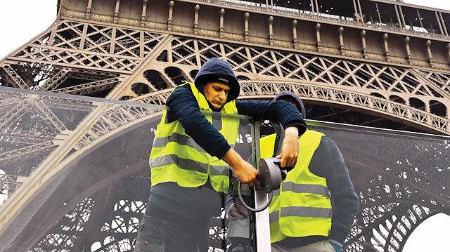 Paris'te hayat durdu