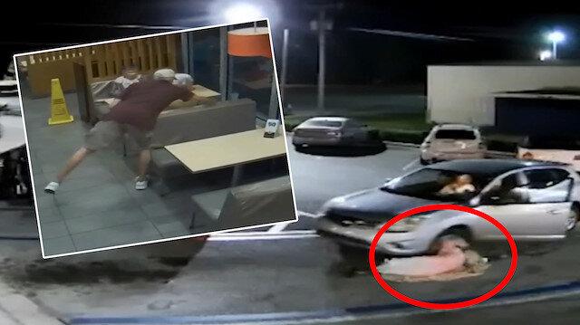 Çantasını çaldığı yaşlı kadını otomobiliyle eziyordu