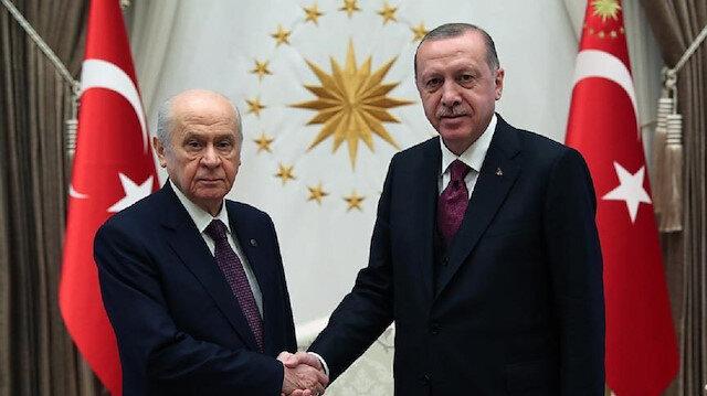 بدء لقاء أردوغان مع زعيم حزب الحركة القومية بأنقرة