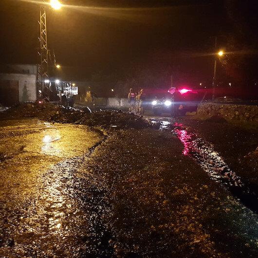 Gaziantep'te petrol boru hattına yıldırım düştü: Bir mahalle boşaltıldı