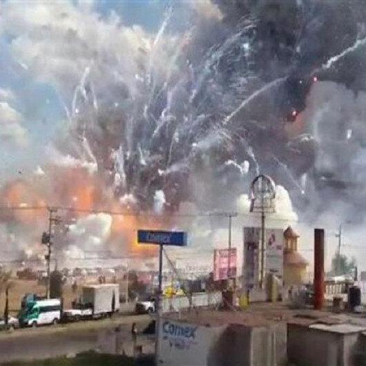 مصرع 5 جراء انفجار مخزن ألعاب نارية وسط المكسيك