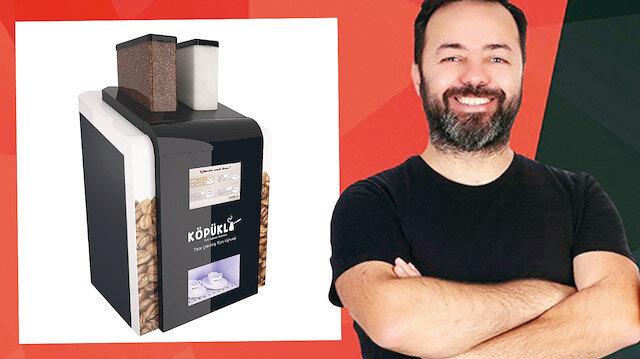 Girişimci Onur Çotur, 'Akıllı Türk Kahve Makinesi' ile çekirdekten Türk kahvesi hazırlayan bir ürün geliştirdi.