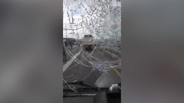 Siyonist İsrail yerleşimcileri Filistinlilere saldırdı