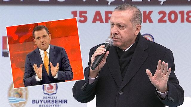 Erdoğan'dan sokak çağrısı yapan Fatih Portakal'a: Edep fukarası