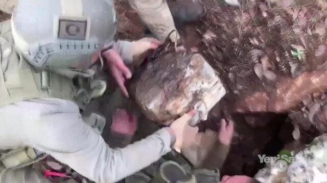 PKK'lı teröristlerin barındığı yerler havaya uçuruldu
