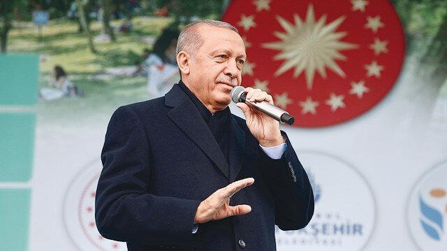 Cumhurbaşkanı Erdoğan,  Esenler'de yapımı tamamlanan 15 Temmuz Millet Bahçesi  açılışında konuştu.