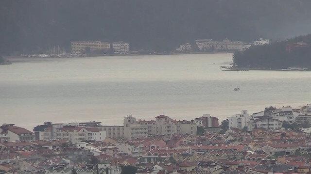 Marmaris'te denizin rengi değişti