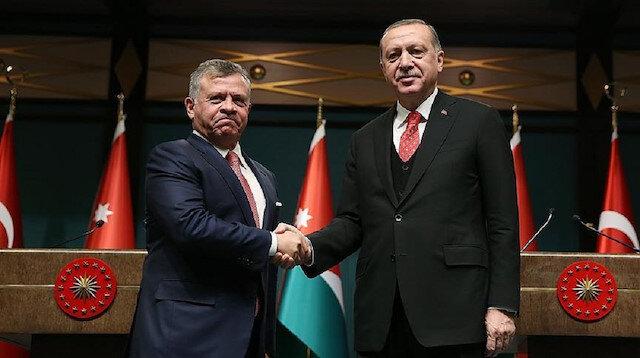 President Erdoğan, Jordan's king speak over phone