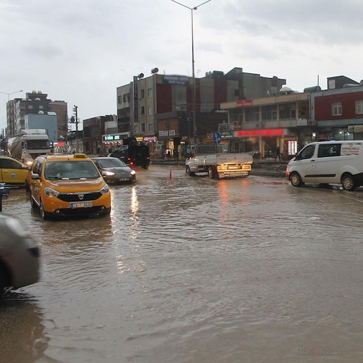 Gaziantep'te sağanak etkili oldu