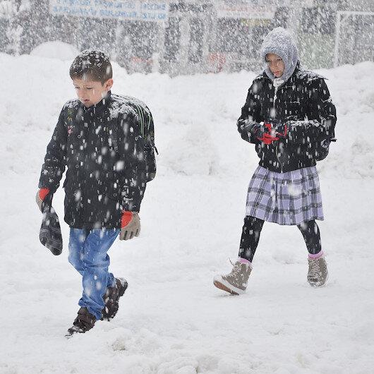 Kırklareli ve Keşan'da eğitime kar engeli