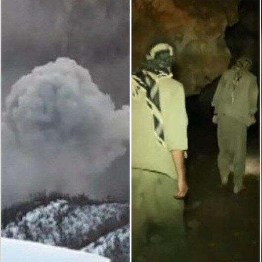 Mağarada saklanan teröristleri 3 yıl önce çektikleri video ele verdi