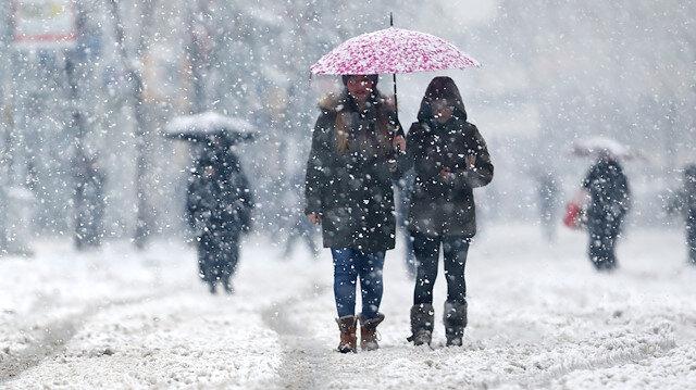 Meteorolojiden 4 il için kuvvetli kar yağışı ve fırtına uyarısı