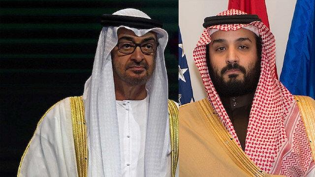 UAE Crown Pince Mohammed bin Zayed and Saudi Crown Prince Mohammed bin Salman