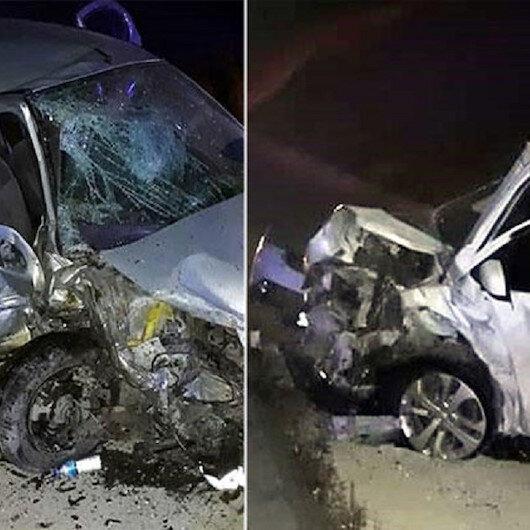 Zincirleme kazada biri şehit babası 2 kişi öldü