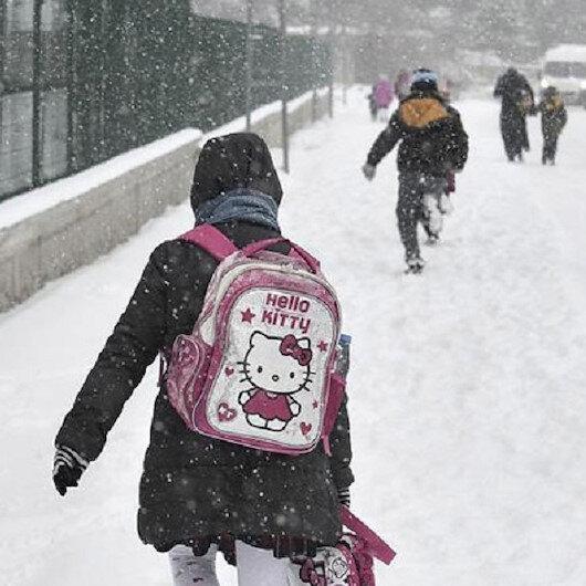 11 ilde kar nedeniyle eğitime ara verildi