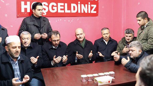 İçişleri Bakanı Süleyman Soylu ve Gençlik ve Spor Bakanı Muharrem Kasapoğlu, TFF Amatör Kurul Başkanı Ali Düşmez ile birlikte Küçükköyspor taraftarı Muhammed Yücel'in ailesine taziye ziyaretinin ardından her iki kulübü ziyaret ettiler.