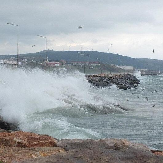 Orta Karadeniz'de şiddetli fırtına uyarısı