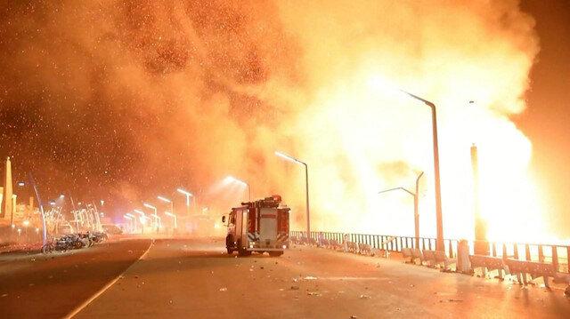 Yeni yıl ateşi kasabayı yaktı