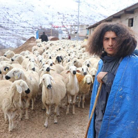 Üniversite mezunu genç 300 koyuna çobanlık yapıyor