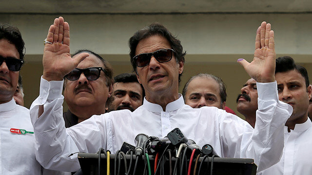 Cricket star-turned-politician Imran Khan