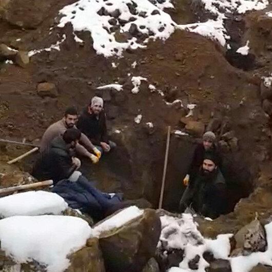 Elazığ'da define arayanlar suçüstü yakalandı