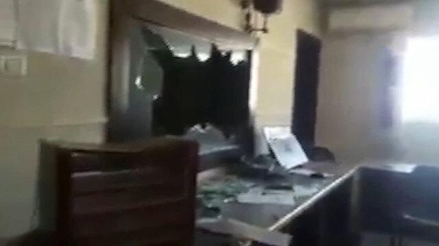 Filistin televizyonunun Gazze'deki genel merkezine baskın