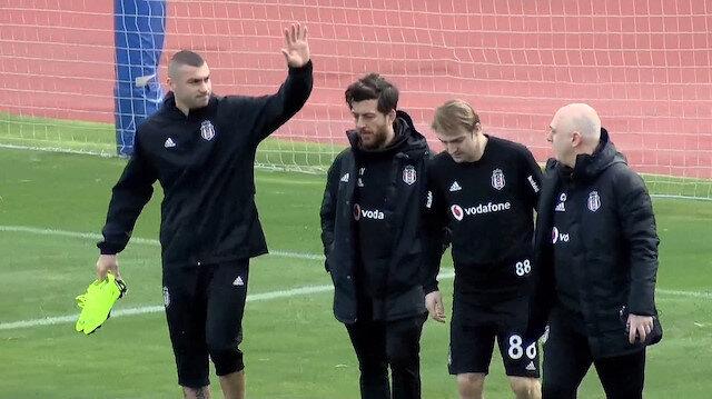 Burak Yılmaz Beşiktaş'la ilk idmanına çıktı