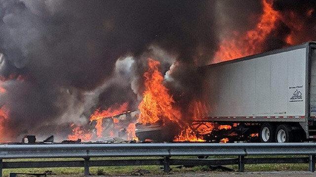 Yola dökülen yakıt alev aldı 7 kişi öldü